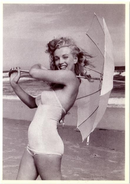 Marilyn Monroe In 1950s In White Swimsuit Modern Postcard 2 Hippostcard