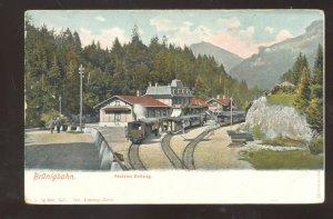 BRUNIG SWITZERLAND BRUNIGBAHN RAILROAD DEPOT TRAIN STATION VINTAGE POSTCARD