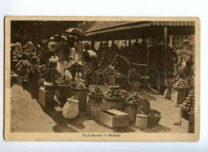 171912 INDIA Fruit Market in Madras Vintage postcard