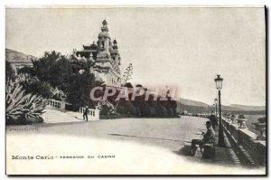 Old Postcard Monte Carlo Terrace Du Casino
