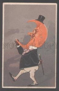 103111 Dressed MOON in TOP HAT w/ Walking CANE Vintage PFB PC