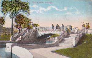Illinois Chicago Bridge In Union Park 1918