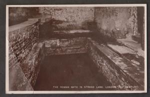 The The Roman Bath, Strand Lane, London - Used 1920s - Creased