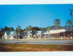Pre-1980 BLUE AND WHITE RESTAURANT & MOTEL St. Saint Augustine Florida FL r0991