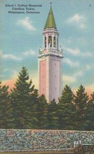 WILMINGTON , Delaware, 30-40s; Alfred I. DuPont Memorial, Carrillon Tower