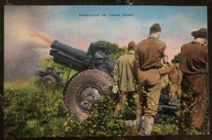 Mint Usa Army Picture Postcard PPC Maneuvers On Firing Range