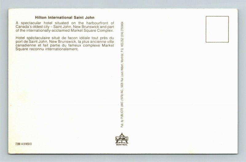 St John New Brunswick-Canada, Hilton International St John, Chrome Postcard