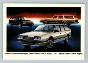 1984 Chevrolet Cavalier, Celebrity, And Caprice Station Wagons Chrome Postcard