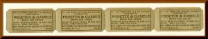 Vintage Procter & Gamble Promotion Tickets, Soaps & Crisco, Bike Raffle, '50's?
