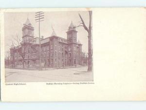 Pre-1907 HIGH SCHOOL Buffalo New York NY A1898