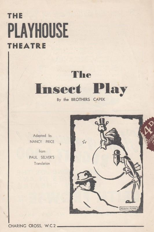 The Insect Play Butterfly Beetle Cricket Parasite Old Comedy Theatre Programme