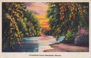 Greetings From Standish Maine 1938
