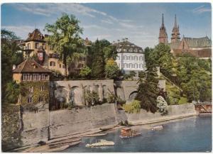 Switzerland, Basel, Am Rhein, unused Postcard