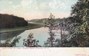 New York Rochester Scene On The Genesee River
