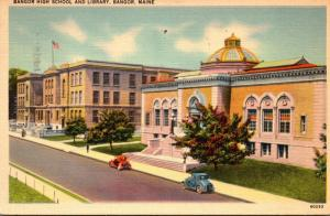 Maine Bangor High School and Library 1941