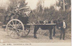 RP: ROMA (Rome) , Italy , 00-10s ; Carrettiere a vino IV (Donkey)