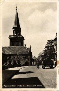 CPA APPINGEDAM Oude Raadhuis met Toren NETHERLANDS (705901)