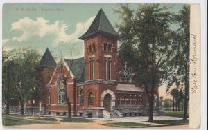 c1910 CRESTLINE Ohio Postcard ME Church Richland Crawford County Bucyrus
