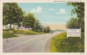 Kentucky Entering Fulton State line Street