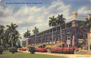 Hialeah Park, Miami FL USA Horse Racing Postal Used Unknown