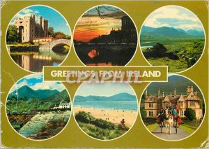 Modern Postcard Greetings from Ireland
