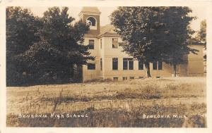 F35/ Benzonia Michigan RPPC Postcard c1910 High School Building