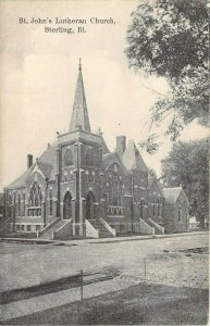 St. John's Lutheran Church, Sterling, Ill. Posted 1909