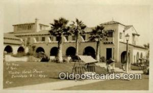 Frence Hotel Plaza, Ensengog - B.C. Mexico, Real Photo Postcard Postcards wri...
