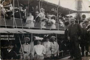 Abbazia 1904 Opatija Croatia Atelier Betty cruise ship snapshot real photo pc