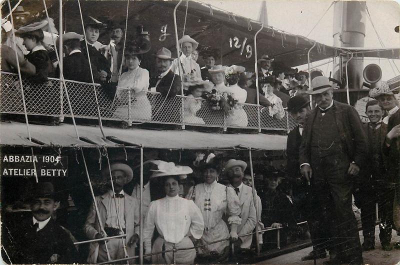 Abbazia 1904 Opatija Croatia Atelier Betty cruise ship snapshot real photo pc
