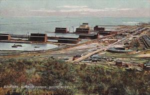Minnesota Duluth Elevators Superior Harbor Aerial View 1912 Rotograph