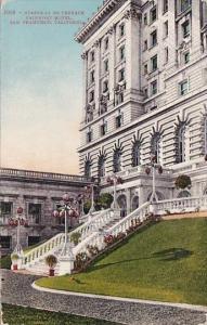 Carlifornia San Francisco Stairway To Terraces Fairmont Hotel