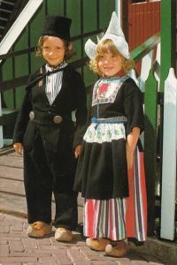 Children In Local Costume Volendam Netherlands