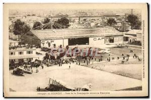 Old Postcard Jet Aviation Le Bourget basis of the French airline