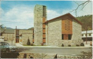 Gatlinburg Tennessee First Baptist Church Vintage Postcard