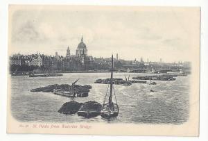 UK England London St Paul's Cathedral from Waterloo Bridge Beagles Postcard