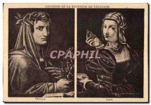 Fontaine de Vaucluse - Remembrance Laure Petrarch - Old Postcard