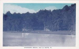Waterfront View, Dense Woods and Houses Along Stanhope's Beach, Isle La Motte...