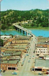 Main Street Bonners Ferry Idaho ID Birdseye Unused Postcard F74