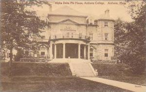 Massachusetts Amhurst College Alpha Delta Phi House Amhurst College Albertype