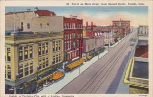 Colorado Pueblo Looking North On Main Street From Second Street 1948 Curteich