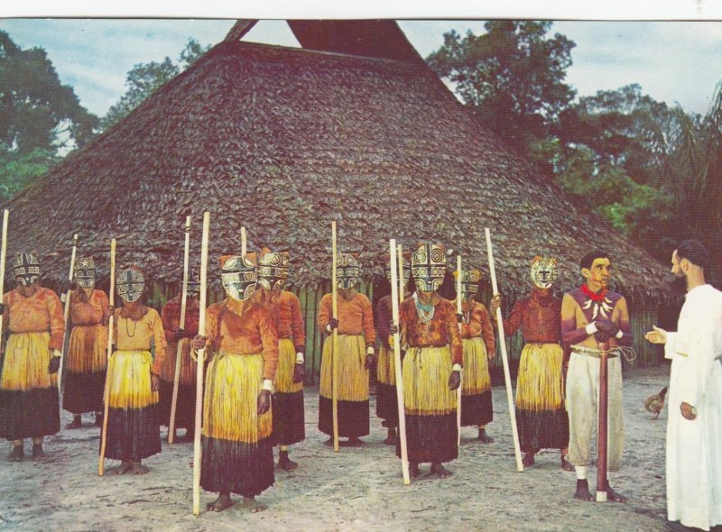 COLOMBIA,  1950-70s ; Missionary's Church Visit by the Boras Indians on the M...