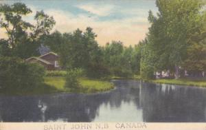 Partial Scene, St. John, New Brunswick, Canada, PU-1947