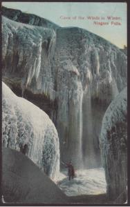 Cave of the Winds in Winter,Niagara Falls,NY Postcard