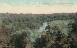 LONDON, Ontario , 1908 ; North Branch of Thames River