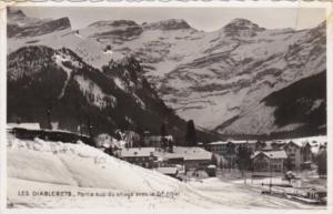 Switzerland Les Diablerets Partie sup du village avec le Grand Hotel 1963 Rea...