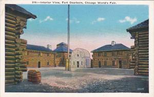 Chicago World's Fair 1933 Interior View Fort Dearborn
