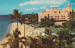 Hawaii Oahu Waikiki Beach And Royal Hawiian Hotel