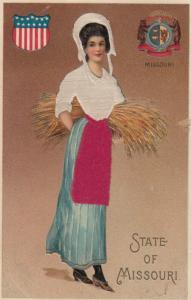 MISSOURI State Girl , 1907 ; Silk