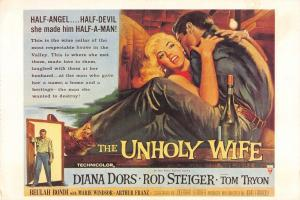 Film Movie Postcard The Unholy Wife 1957 RKO HUGE SIZE 205x140mm